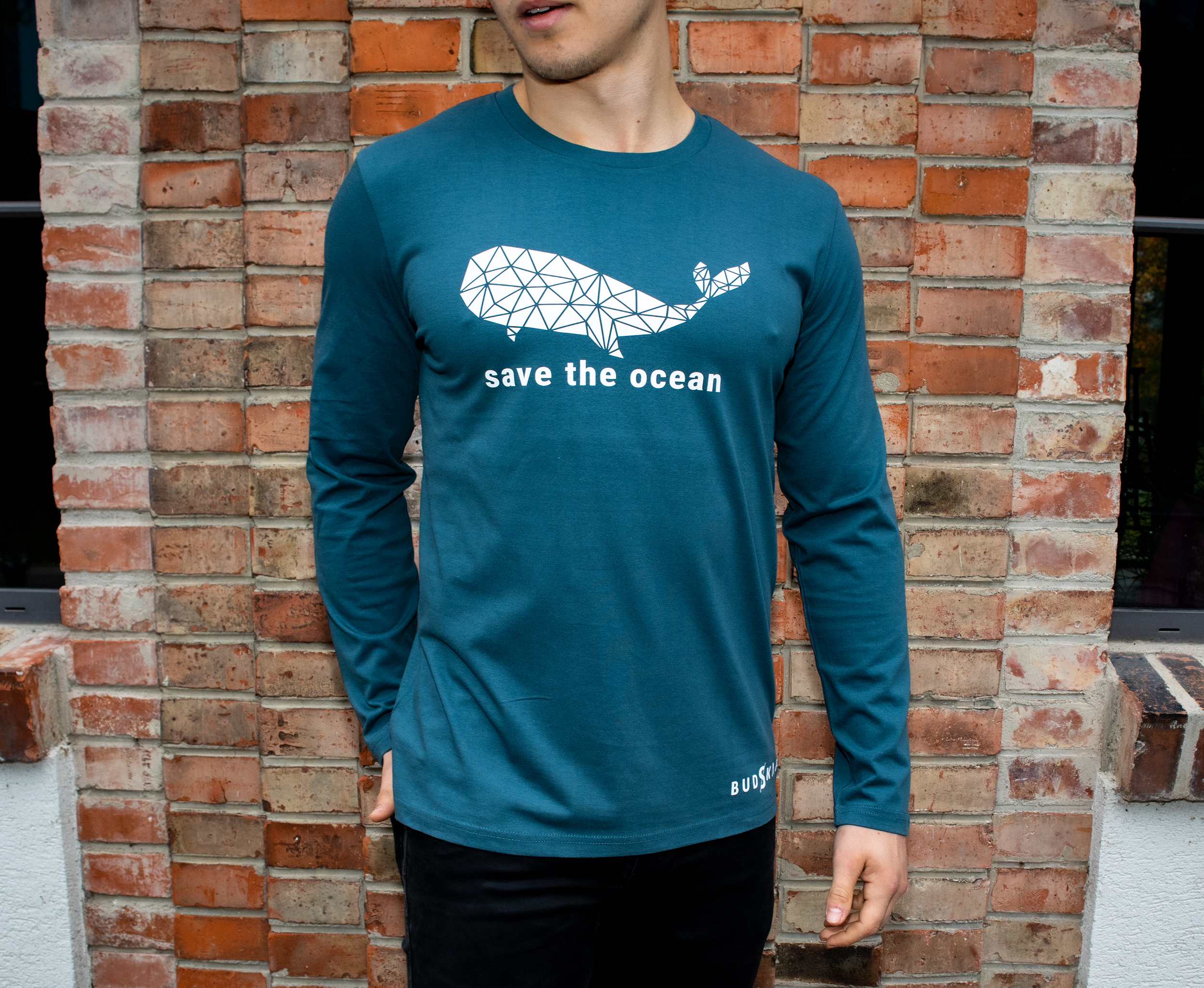 Save the ocean wal geometrisch langarmshirt facebook