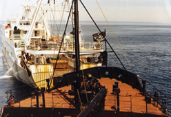 1993-Grand-Banks---Cleveland-Amory-blocking-Spanish-trawler-nets